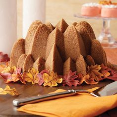 This beautiful but simple cake will add a Little Autumn Spice to any fall gathering. Wilton's pumpkin apple spice cake, paired with some hot cider, will keep the fall chill at bay.