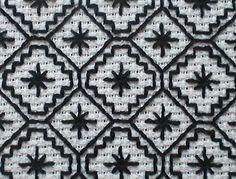 blackwork pattern - www.feelingstitchy.com/2012/05/making-spot-guest-post-free-blackwork.html