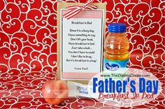 BREAKFAST IN BED!!  Perfect for Father's Day, Birthdays, or ANY occasion!  Free printable!