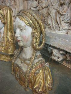 Saints head - 16th c. - hair side