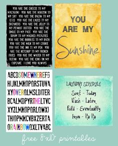 Free fun printables for project life