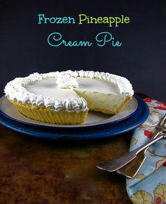 Frozen Pineapple Cream Pie
