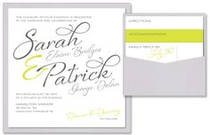 Flirt Square Clutch Wedding Invitation | by The Green Kangaroo, Inc.