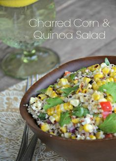 Charred Corn & Quinoa Salad is light and still hearty and filling. www.mountainmamacooks.com #quinoa #vegetarian