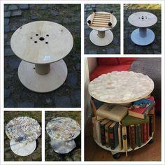 bobine velha = mesa/biblioteca giratória