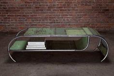 coffee tables, upcycl, sheet metal, metals, locker, repurpos, coffe tabl