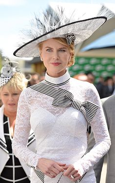 Nicole Fascinates Nicole Kidman donned a fascinator (and matching lacy ensemble) to attend Derby Day at Flemington Racecourse on Nov. 3 in Melbourne, Australia.