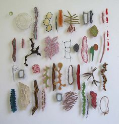 """..fishskin, horsehair, parchment, paperyarn, fabric, fishscale, bark.."" Marian Bijlenga"