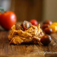 Roasted Tomato Hummus -- delicious, healthy and great to use in all kinds of meals! What could be better for starting the New Year off right?