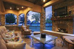 Outdoor Fireplace in Royal Oaks Houston by Texas Custom Patios