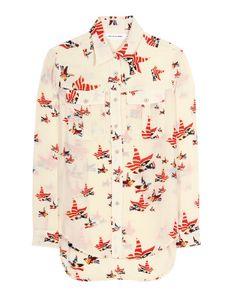 Camisa estampada (240 €), de Isabel Marant para Mytheresa.