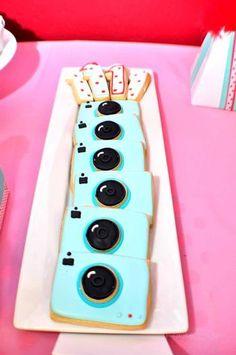 cute camera cookies
