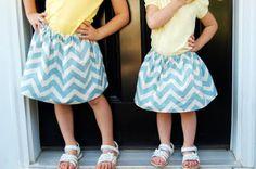 sew, cloth, babi fever, easi skirtsi, craft idea, chevron skirt, kid stuff, diy girls skirts, crafts