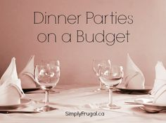 Dinner parties are so much fun to host! However, hosting a dinner party can get very expensive if not planned properly. Dinner parties don't have to be expensive, in fact you can throw a very frugal party! Keep reading and you will be well on your way to...