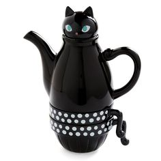 Black Cat Teapot #tea