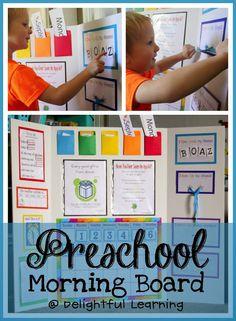 Delightful Learning: Preschool Morning Board