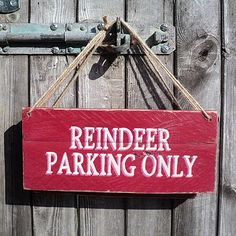 christma sign, idea, back doors, christmas signs, shabby chic christmas, front doors, reindeer park, wooden signs, park onli