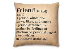 Jute Friend 18x18 Pillow, Natural/Black on OneKingsLane.com