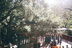 Topanga Canyon wedding ceremony
