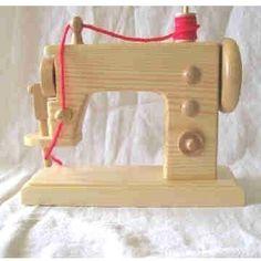 Cute wooden sewing machine!