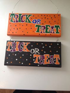 Halloween signs I made 2014