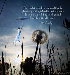 If it is detrimental to you emotionally, physically and spiritually… what choice do you have left but to let go and flourish with self-respect. — Dodinsky