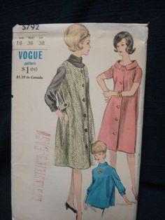1960s Vogue Maternity Pattern Dress Jumper Blouse FF by kinseysue, $12.00