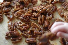 Cafe Johnsonia: How To Make Candied Nuts  (for my apple gorgonzola salad)