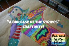 Pink and Green Mama: Storybook Summer Craftivity With A Bad Case Of The Stripes Over At Make And Takes Today!