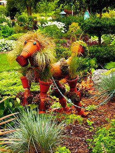 Terra & Cotta's dog- scarecrow dog!