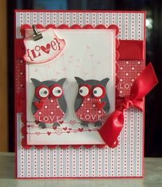 Love Struck Owls, Valentine Defined Card by Sylvaqueen - Cards and Paper Crafts at Splitcoaststampers