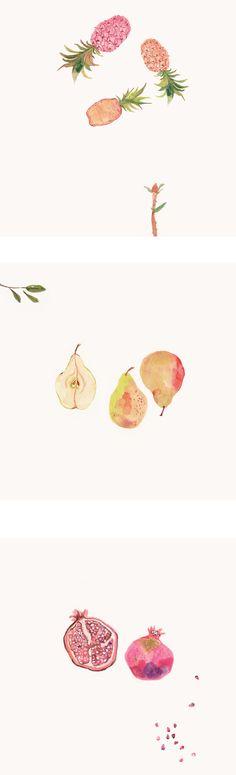 Pineapples, Pears  Pomegranates