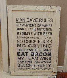 :) for the man caves out there