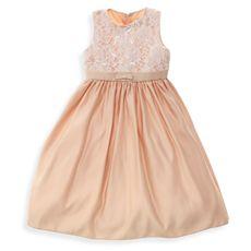flower girl peach dress