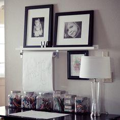 art space, kids artwork, kid art, desk, parchment paper