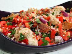 Puttanesca-Style Panzanella #myplate #veggies #starch