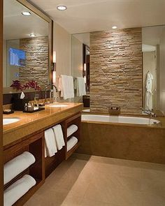 Innovative  Denver Lofts 3 Piece Bathroom Expresso Cabinetry West Elm Mirror