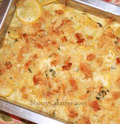 Parmesan Cheddar Squash Casserole