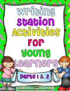 Writing Station Activities for Young Learners Bundle- awesome ideas to get your kiddos to start writing!