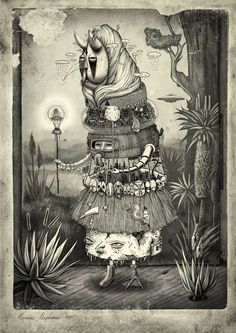 """Illustration from AM I COLLECTIVE called """"Inkygoodness"""". Amazing stuff"""