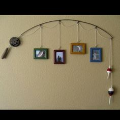 Cool way to use a retired fishing pole