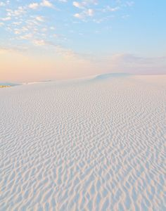 Dawn at White Sands National Park in New Mexico