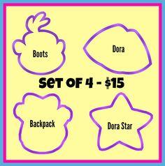 "3.5"" Dora Set of 4 - Piping Mad Prints"
