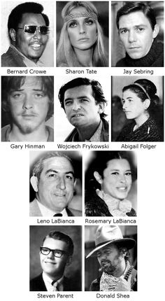 Manson Victims - Charles Milles Manson (born Nov 12, 1934) led the Manson Family, a quasi-commune that arose in California in late 1960s. He was found guilty of conspiracy to commit the murders of Sharon Tate & Leno & Rosemary LaBianca carried out by members of group at his instruction.