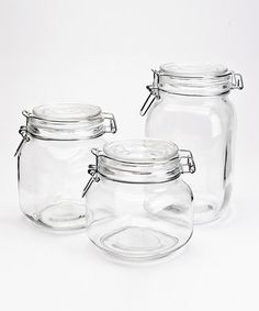 Another great find on #zulily! Traditional Glass Jar Set by Housewares International #zulilyfinds