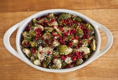 CITRUS AND POMEGRANATE BRUSSELS SPROUTS