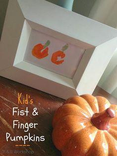 Kids Craft: Fist & Finger Pumpkins