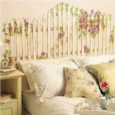 Painted faux headboard