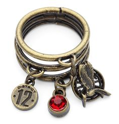 The Hunger Games Catching Fire Mockingjay Charm Ring