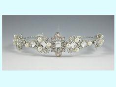 Vintage Inspired Rhinestone Tiara by everythingangelic on Etsy, $97.00
